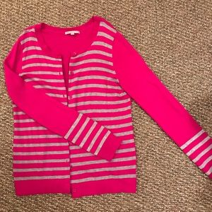 GAP magenta and grey sparkle sweater